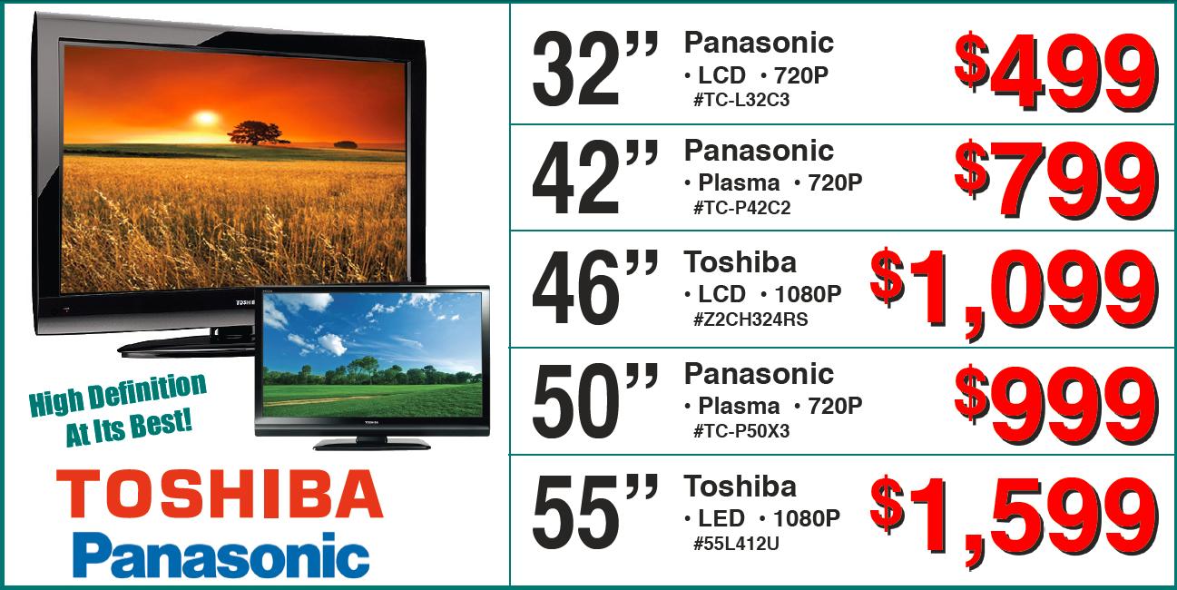 Toshiba And Panasonic Tvs Factory Furniture Greenville Ms Call 800 569 3904